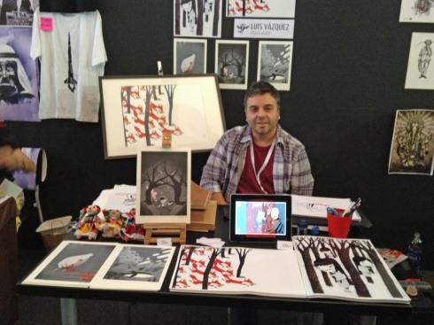 Artist Luis Vasquez, Photo Copyright Reviewbrain, 2012.
